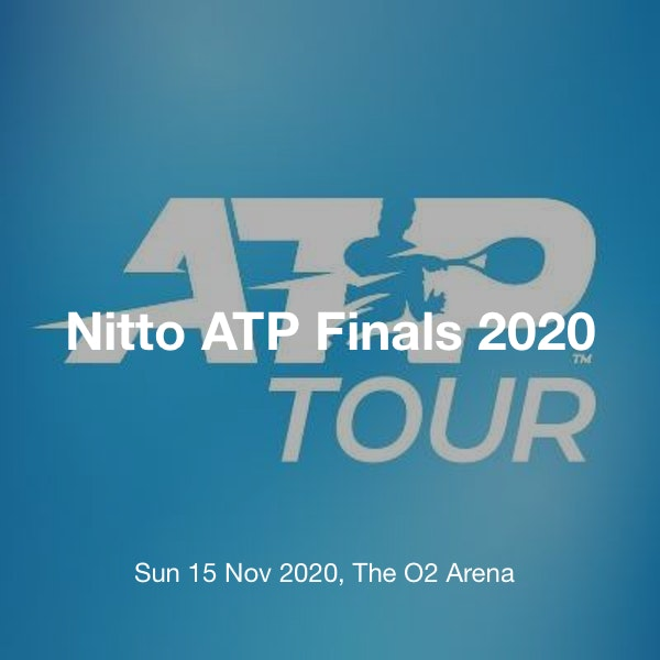 Nitto Atp Finals 2020 Tickets The O2 Arena London 15 November 10 45 Tickx